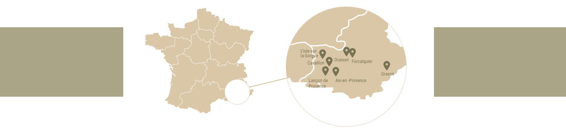 carte partenaires provence olivier de leos